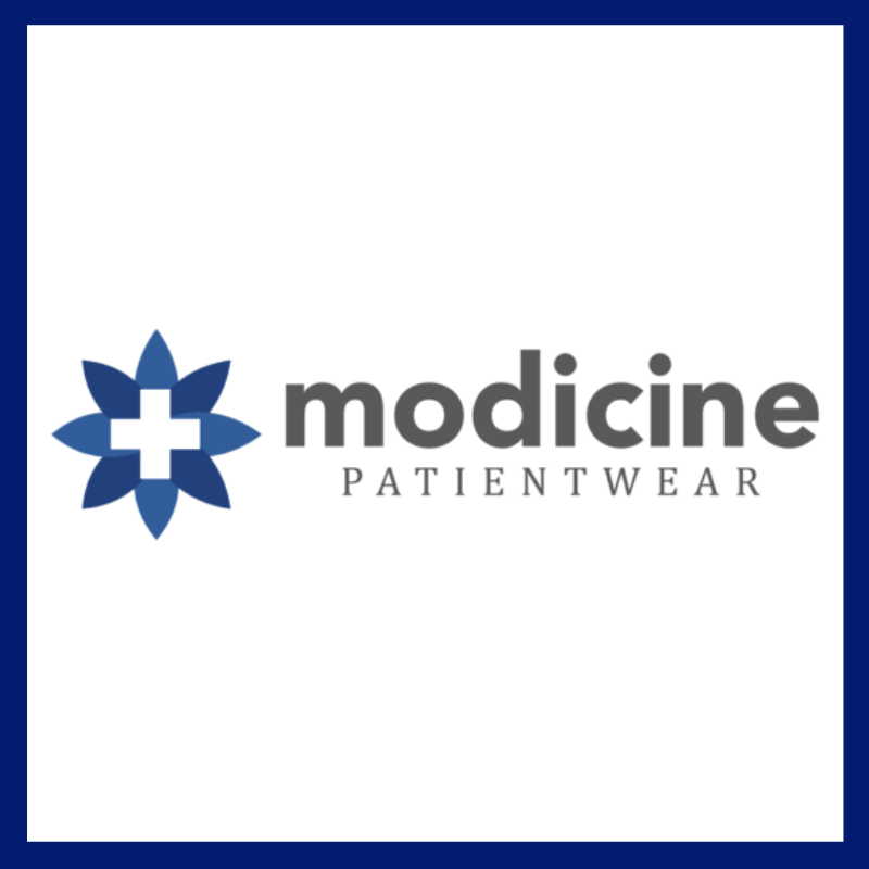 Modicine PatientWear logo with border